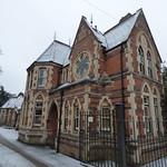 Snow at Yardley Cemetery - lodge thumbnail