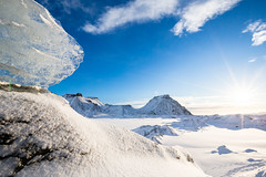 Of Ice ... (Arnaud Grimaldi) Tags: iceland islande katla mýrdalsjökull glacier ice snow volcano sun january 2018