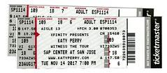 katy tix (mudsharkalex) Tags: california sanjose sanjoseca hppavilion hppavillion sapcenter katyperry ticket tickets tix