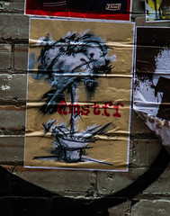 dmstff grey flower (PDKImages) Tags: manchesterstreetart street art manchester streets streetart urban posterart pasteup streetscenes