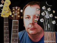 Old selfie with guitars (Andy Sut) Tags: guitars