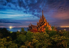 Travel Plans (Stuck in Customs) Tags: bangsaray pattaya thailand china singapore malaysia treyratcliff stuckincustoms stuckincustomscom travel temple night trees sky religion hdr