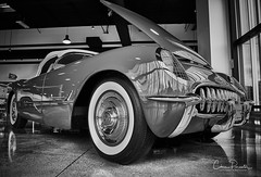 1954 Corvette Convertible (Chris Parmeter Photography) Tags: 1954 corvette convertible car automobile classic vintage black white canon 5dsr 24105mm