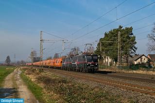 EBS 140 811 + 140 815 mit Wascosa Zug in Wissingen
