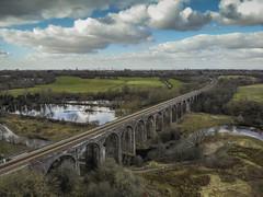 Reddish Vale (Camera_Shy.) Tags: reddish vale stockport railway viaduct water brook drone ariel view birds eye mavic air sky landscape north west uk