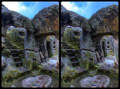 Elf Castle Regenstein 3-D / CrossEye / Stereoscopy / HDR / Raw (Stereotron) Tags: sachsenanhalt saxonyanhalt ostfalen harz mountains gebirge ostfalia hardt hart hercynia harzgau regenstein felsenburg rock castle megalithic megalith elfcastle prehistoric prähistorisch europe germany deutschland crosseye crosseyed crossview xview cross eye pair freeview sidebyside sbs kreuzblick 3d 3dphoto 3dstereo 3rddimension spatial stereo stereo3d stereophoto stereophotography stereoscopic stereoscopy stereotron threedimensional stereoview stereophotomaker stereophotograph 3dpicture 3dglasses 3dimage canon eos 550d chacha singlelens kitlens 1855mm tonemapping hdr hdri raw