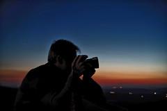 Selfportrait against the sunset (La nesto de la lango) Tags: sunset atardecer autorretrato retrato silueta