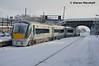 22028 departs Kildare, 28/2/18 (hurricanemk1c) Tags: railways railway train trains irish rail irishrail iarnród éireann iarnródéireann kildare 2018 22000 rotem icr rok 4pce 22028 0640limerickheuston snow