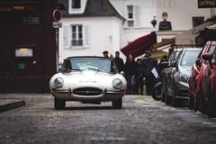 Jaguar E-Type (antoinedellenbach.com) Tags: worldcars classic car racing circuit france canon eos automotive classiccars automobiles vintage automobile sport festival lightroom usm coche detail paris frenchcar traverseedeparis montmartre jaguar typee etype britishcar