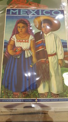 """MEXICAN TRAVEL POSTER WITH HAPPY CHILDREN.  $450. • <a style=""""font-size:0.8em;"""" href=""""http://www.flickr.com/photos/51721355@N02/27849215479/"""" target=""""_blank"""">View on Flickr</a>"""
