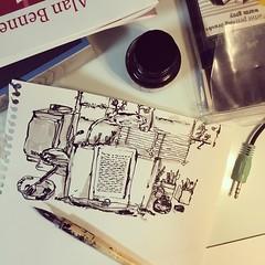 (Gyeong-ryeong LEE) Tags: desk gray grey fabercastell windsorandnewton sketch fountainpen linedrawing doodle illustration handdrawing scribble art drawing pen ink