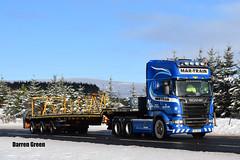 MAR-TRAIN SCANIA TOPLINE STREAMLINE R560 V8 6X4 141-L-1674 (Darren (Denzil) Green) Tags: mar train heavyhaulage scania topline streamline r560v8 6x4 windfarm transport broshuisextendabletrailers broshuistrailers ireland stgocat3 struie invergordon blade trailer trial run test kelsalightbar a9 141l1674