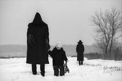Best friend (Dmitriy Ryabov) Tags: canoneos1v canon1v canon dmitriyryabov canonef85mmf12liiusm 85 bw monochrome blackandwhite photo photography portrait baby hood snow kodaktmax400pro