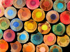 A wall of color to enjoy. (vickilw) Tags: color pencil circle 7daysofshooting week30 rounded colourfulthursday 6ws