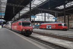 SBB Re 460 054 + 460 060 Basel Bad (daveymills31294) Tags: sbb re 460 054 060 basel bad baureihe bombardier