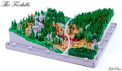 The Foothills (7 of 7) (Emil Lidé) Tags: lego moc foothills microscale tree road mountain hill