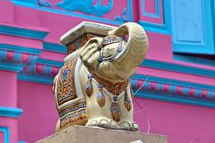 Elephant (SINGAPORE) (ID Hearn Mackinnon) Tags: elephant singapore singaporean 2017 south east asia asian statue figurine gold golden pink house decoration decorative