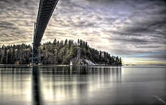 Stanley & Bridge (beelzebub2011) Tags: canada britishcolumbia vancouver stanleypark lionsgatebridge burrardinlet longexposure hdr highdynamicresolution