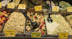 Salads (earthdog) Tags: 2018 moblog cameraphone androidapp pixel googlepixel food shopping store edible grocerystore glass safeway