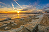 On Frozen Bay (djrocks66) Tags: sunset sunrise oceanscape waterscape landscape landscapes nature outdoors bay water frozen ice shore sun color boaating fishing snow sand canon 5d mark iv sky cold