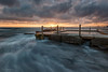 Dual Outflows (Crouchy69) Tags: sunrise dawn landscape seascape ocean sea water flow motion coast clouds sky rocks avalon beach pool sydney australia