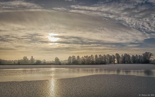 Moody winter sunrise