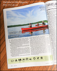 Harsha East Fork Lake Published Ohio Magazine July 2017 - Published (Mark Birkle) Tags: published harsha east fork lake clermont county canoeing boat summer blue sky red paddling water image photo picture
