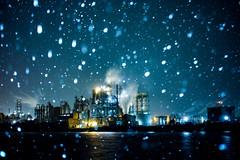 Snowy night (ogizooo) Tags: factorynightview nightscape nightphoto snow longexposure dp2merrill sigma
