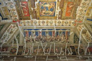 Petite salle des Jeux, appartements princiers, Castello Estense (XIVe-XVIe), Ferrare, Emilie-Romagne, Italie.