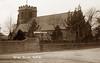 Ruabon Parish Church (footstepsphotos) Tags: ruabon church mary denbigh exterior signpost old vintage postcard past historic wales