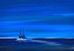 Far Horizons (Pat McDonald) Tags: artrage atlanticocean battleship britain dreadnought digitalart dghaisas churchill britishisles gibraltar grandfleet grandharbour harryroughers heavyweather homefleet italy lalíneadelaconcepción malta portsmouth navy mediterraneanfleet mediterranean queenelizabethclass roughseas royalcanadiannavy royalnavy royalnewzealandnavy sailor scapaflow scotland sea secondworldwar ship whiteensign waves storm