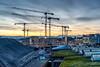 Cranes in the morning (jaeschol) Tags: europa hardbruecke hardbrücke kantonzürich kontinent kreis4 kreis5 morgen morning pjz schweiz stadtzürich suisse switzerland zeit zürich ch