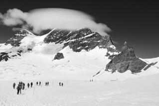 * Lenticular Cloud Obscures Jungfrau Peak