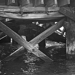 Under Old San Francisco Bay Pier (monochrome rendition) thumbnail