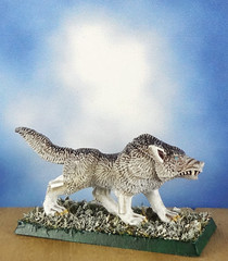 Arctic-Dire-Winter-Wolf-Painted-Miniature-01 (Dead Bard Miniatures) Tags: dd dungeons dragons reaper ralpartha grenadier warhammer wotc chainmail pathfinder painted miniature mini