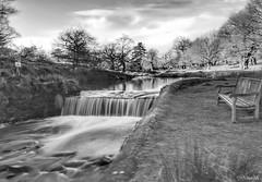 Serenity! (Nina_Ali) Tags: silhouette winter2018 blackandwhite landscape atmospheric 7dwf longexposure bradgatepark leicestershire waterfall water slowshutterspeed
