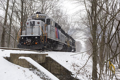Disco Stripes on the NYGL (sully7302) Tags: nj transit gp402 4300 emd totowa mountain view wayne branch industrial passenger freight rescue train trains railroad transportation gp382 norfolk southern 5637