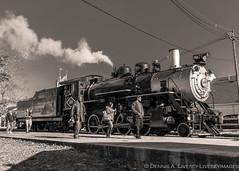 Black River & Western 60 in black & white. (Dennis A. Livesey) Tags: flemington nj usa