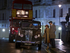 'This Year London' (andrew_@oxford) Tags: horse guards avenue london transport bus taxi night street lights timeline events brooklands museum 1940s 1950s reenactment reenactors