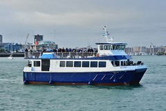 Ali Cat (PD3.) Tags: solent hampshire hants england uk boat boats ferry ferries ship ships catamaran catamarans portsmouth harbour ali cat blue funnel