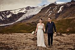 Martine & Sylvain (LalliSig) Tags: wedding photographer iceland summer june portrait portraiture people glacier mountains