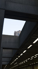 Barbican (Darryl Scot-Walker) Tags: architecture composition brutalism concrete london lights tunnel cityoflondon urban city sky skyscraper lines