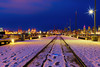7am in the snow (beelzebub2011) Tags: canada britishcolumbia vancouver lonsdalequay hdr highdynamicresolution snow pier cityscape