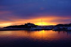 Ibiza (LorenzoGiunchi) Tags: sky reflection clouds sea sunset ibiza
