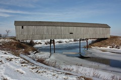 Wheaton Covered Bridge- Tantramar, New Brunswick (Craigford) Tags: uppersackville tantramar newbrunswick coveredbridge bridge river snow winter sky canada
