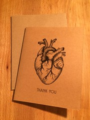 Thank you from the bottom of my heart greeting card (greetingsfrompawtucket) Tags: greeting card cards thank you stationary art rhode island pawtucket maker
