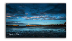 By Last Light (RonnieLMills) Tags: donaghadee harbour lighthouse sunset last light county down northern ireland clouds reflections