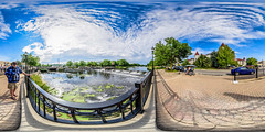 Barstow Street Dam Spherical Panorama (Sharky.pics) Tags: dam foxriver barstowstreetdam foxriverwalk water july 2016 waukesha river wisconsin unitedstates us