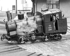 Historic Steam Locomotive No. 16, RB Rigi Railways, Vitznau, Switzerland (jag9889) Tags: 2018 20180225 bw blackandwhite ch cantonlucerne cantonoflucerne centralswitzerland cogwheel depot europe helvetia historic innerschweiz kantonluzern lu locomotive lucerne luzern monochrome outdoor railroad railroadtracks railway schweiz steam suisse suiza suizra svizzera swiss switzerland train transportation turntable vrb vintage vitznau vitznaurigibahn winter zentralschweiz jag9889