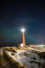 Lighthouse at Andenes (tommerchant1) Tags: andoya andenes lighthouse stars northernlights aurora norland norway snow scenery coastal nikon nordland